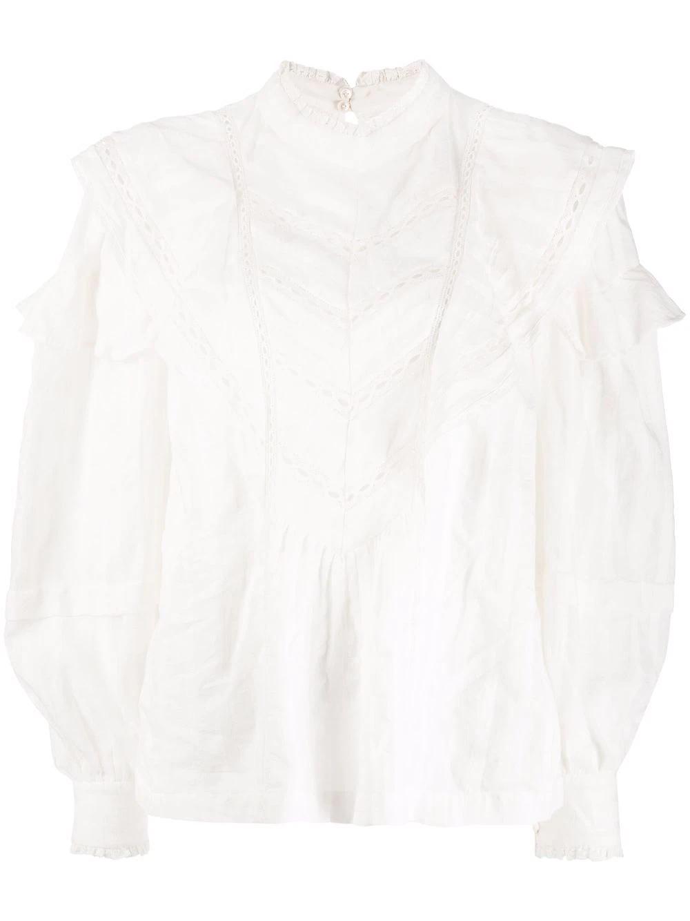 REIGN - Bluse mit Volants