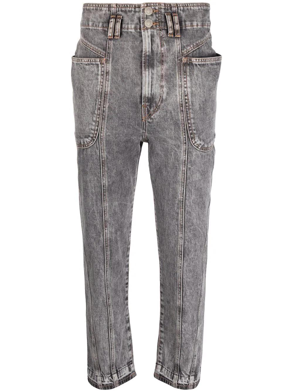 TUCSON - Cropped Jeans mit hohem Bund