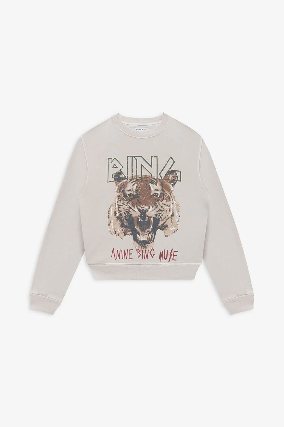 Tiger Sweatshirt Anine Bing grau