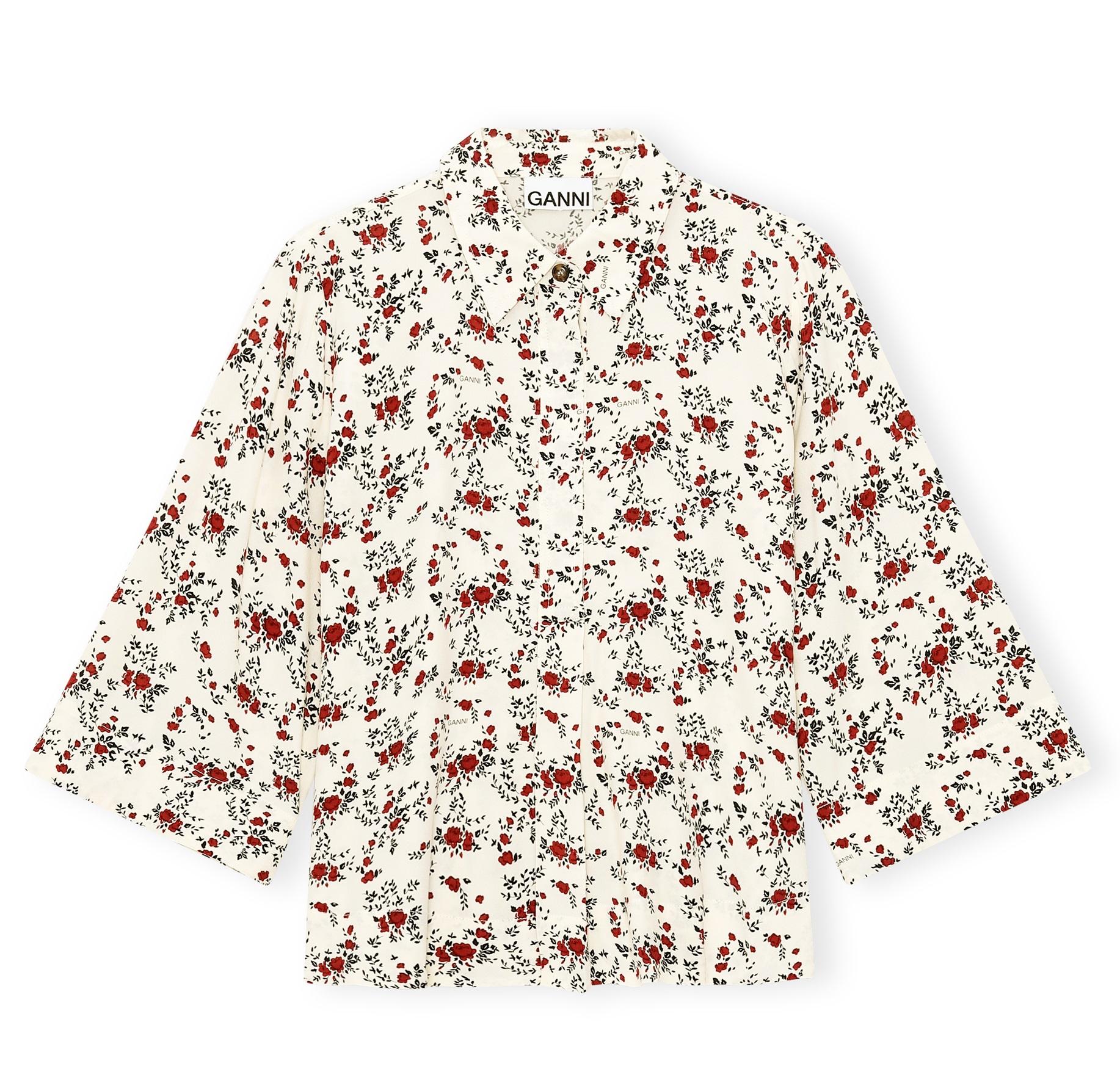 Bluse mit feinem Blumenprint