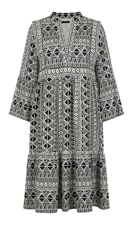 Kleid mit Ethno- Muster