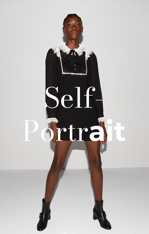 Teaser Self-Portrait Frau mit schwarzem Kleid