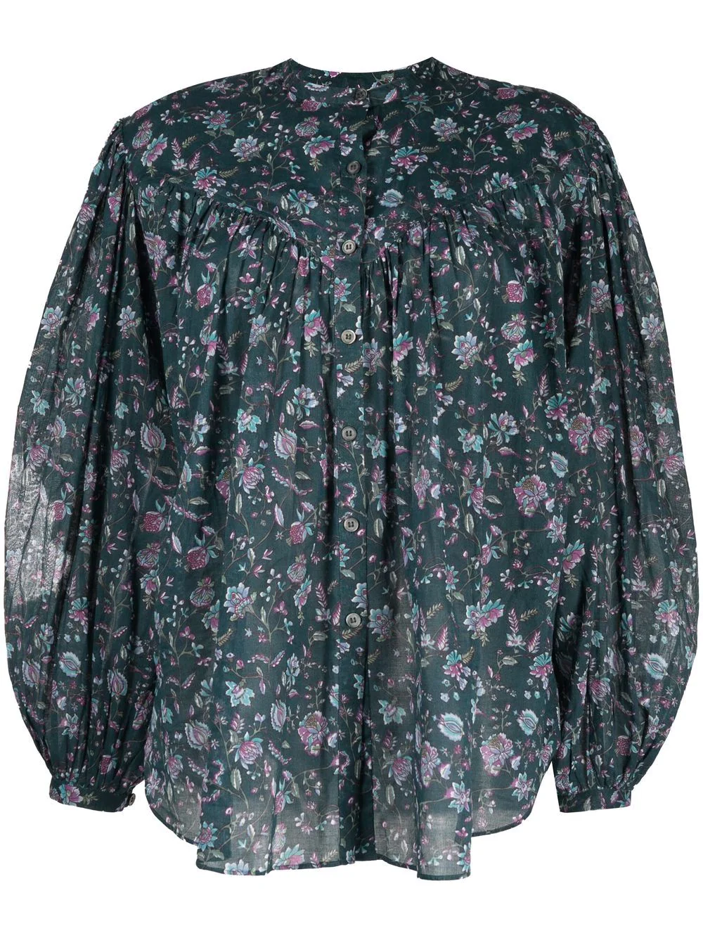 MILEDIA - Bluse mit Blumenmuster