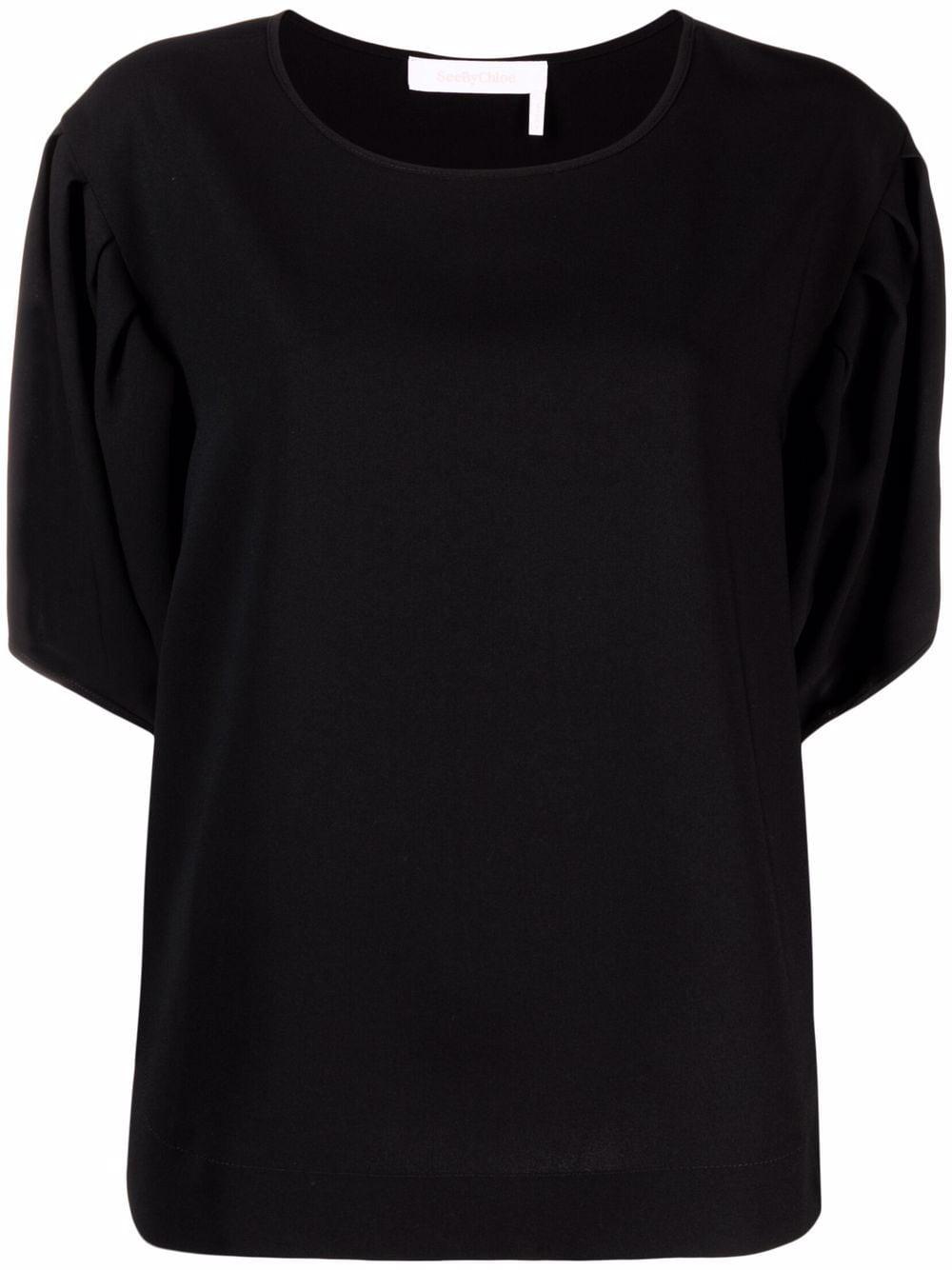 T- Shirt mit weiten Ärmeln