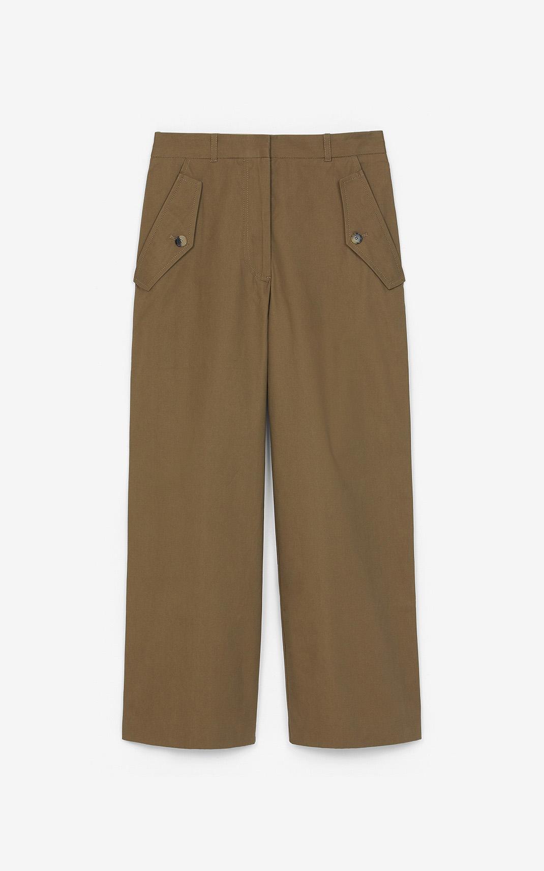 Ausgestellte Cropped Hose